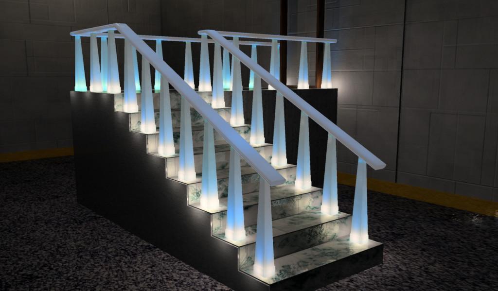 Лестницы в Гомеле из гранита