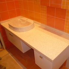 Столешница в ванную из искусственного камня в Гомеле